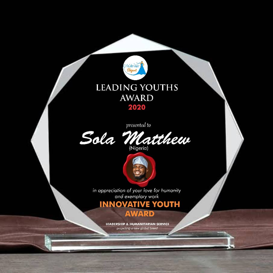Sola Mathew Awarded Among 40 Top International Youths